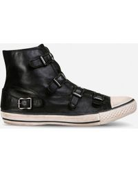 Ash - Virgin Leather Hi-top Trainers - Lyst