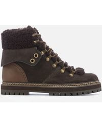 See By Chloé - Flat Hiking Boots - Lyst
