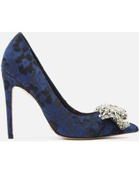 KG by Kurt Geiger - Women's Bow Patterned Court Shoes - Lyst