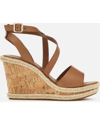 Carvela Kurt Geiger - Kable Leather Wedged Sandals - Lyst