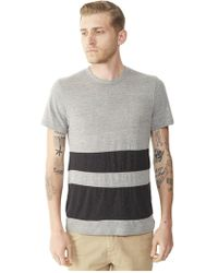 Alternative Apparel - Basic Color-blocked Crew T-shirt - Lyst