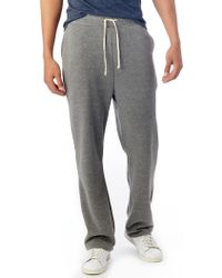 Alternative Apparel - Hustle Eco-fleece Open Bottom Sweatpants - Lyst