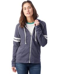 Alternative Apparel - Adrian Throwback Eco-fleece Zip Hoodie - Lyst