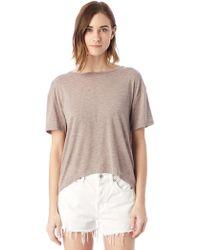 Alternative Apparel - Pony Melange Burnout T-shirt W/ Back Strap - Lyst