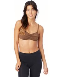 Alternative Apparel - Nytt Ruched Bralette With Cage Back - Lyst