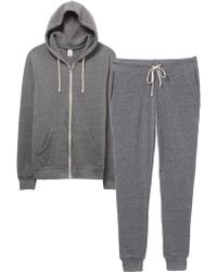 Alternative Apparel - Warm-up Suit Hoodie And Pants 2-pk Bundle - Lyst
