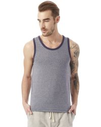 Alternative Apparel - Keeper Vintage Jersey Ringer Tank Top - Lyst