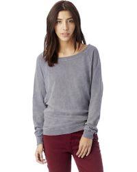 Alternative Apparel - Slouchy Washed Slub Pullover Sweatshirt - Lyst
