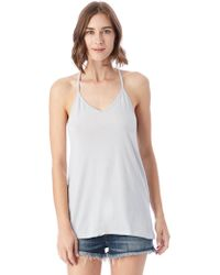 Alternative Apparel - Strappy Satin Jersey Tank Top - Lyst
