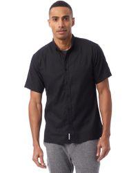 Alternative Apparel - Publish Index Short Sleeve Button-up Shirt - Lyst