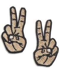 Alternative Apparel - Tulipcake Mini Hands Peace Duo Patches - Lyst