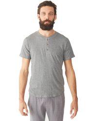 Alternative Apparel - Perfect Organic Pima Henley Shirt - Lyst