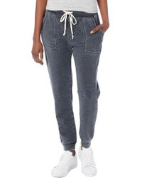 Alternative Apparel | Long Weekend Burn Out French Terry Pants | Lyst