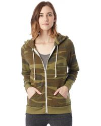 Alternative Apparel | Adrian Printed Eco-fleece Zip Hoodie | Lyst
