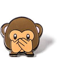 Alternative Apparel - Pintrill Monkey Speak No Evil Pin - Lyst