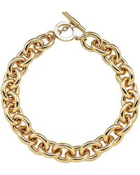 Amanda Wakeley - Chunky Gold Necklace - Lyst