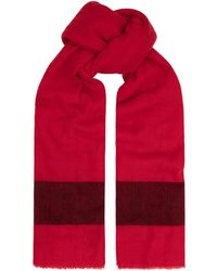 Amanda Wakeley - Red Stripe Cashmere Scarf - Lyst