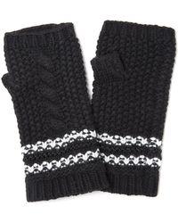 Amanda Wakeley - Black Cable Knit Fingerless Gloves - Lyst