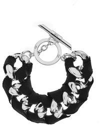 Amanda Wakeley | Chunky Silver Ribbon Bracelet | Lyst