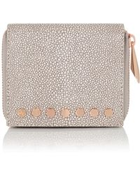 Amanda Wakeley - Mineral Stingray Leather Jagger Wallet - Lyst