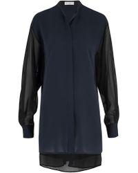 Amanda Wakeley - Sinai Midnight Pleat Shirt - Lyst