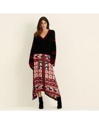 Amanda Wakeley - Lilac & Berry Printed Midi Skirt - Lyst
