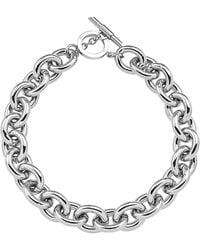 Amanda Wakeley - Chunky Silver Necklace - Lyst