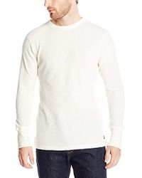 85dd94e21 Polo Ralph Lauren Waffle Knit Crewneck Thermal in Blue for Men - Lyst