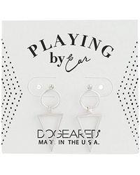 Dogeared - Pe Rings With Open Triangle Studs Earrings, Sterling Silver - Lyst