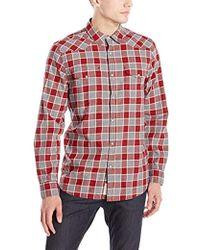 Lucky Brand - Santa Fe Western Shirt In Burgundy Multi - Lyst