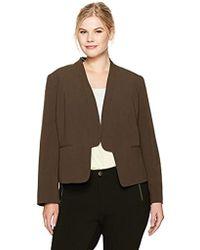 Nine West - Plus Size Bi Stretch Jacket With Framed Closure - Lyst