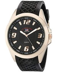 U.S. POLO ASSN. - Sport Us9122 Black Textured Strap Analog Watch - Lyst