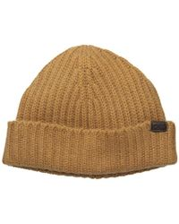 5cdf062488b Lyst - AllSaints Half Cardigan Stitch Beanie in Brown for Men
