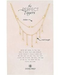 Dogeared - Perfect Layer, Set Of 2, Sparkle With Pearls Chain Necklace - Lyst