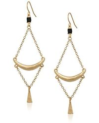 The Sak - Crescent Trapeze Drop Earrings - Lyst
