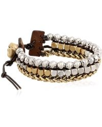 Lucky Brand - S Royal Jewels Mixed Two-tone Faux Wrap Bracelet - Lyst