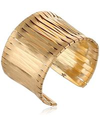 Kenneth Cole - Gold-tone Woven Cuff Bracelet - Lyst