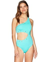 ecc32d4ef72 Jessica Simpson - Shoulder Monokini One-piece Swimsuit Bathingsuit - Lyst