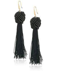 Steve Madden - Wrapped Cord Tassel Hook Drop Earrings - Lyst