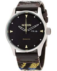 Nixon - A105 Sentry 42mm Stainless Steel Leather Quartz Movement Watch - Lyst