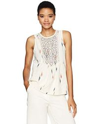 Lucky Brand - Printed Tank Top, - Lyst