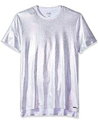Guess - Short Sleeve Stream Foil Crew - Lyst