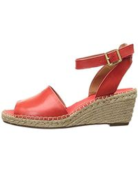 ef86e4134f8 Lyst - Clarks Womens Petrina Selma Leather Espadrilles Wedge Sandals ...