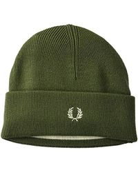 1617c312e Lyst - Barbour Mens Lambswool Beanie Olive, Olive in Green for Men