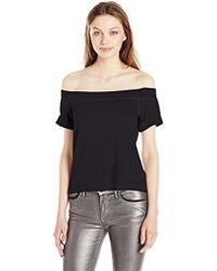 Michael Stars - French Terry Off The Shoulder Sweatshirt - Lyst