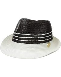 La Fiorentina - Straw Hat With Stripes - Lyst