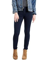 8491c31f2582 Levi's 535 Cropped Super Skinny Jean in Blue - Lyst