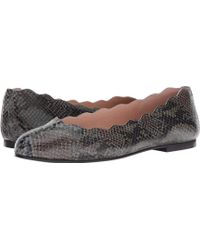 French Sole - Jigsaw (carbon Gray Snake) Flat Shoes - Lyst