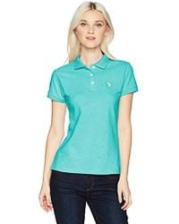 U.S. POLO ASSN. - Us Polo Assn Short Sleeve Solid Pique Shirt - Lyst