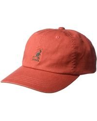 6a5296c1a4f Kangol - Washed Cotton Baseball Dad Cap - Lyst